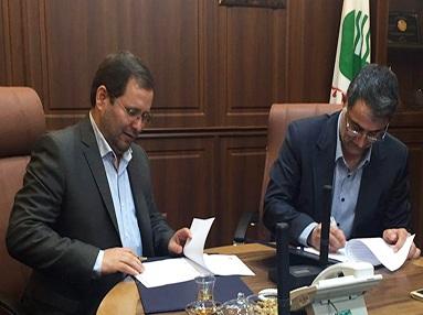 امضای تفاهم نامه همکاری بین شرکت های پست و مخابرات ایران